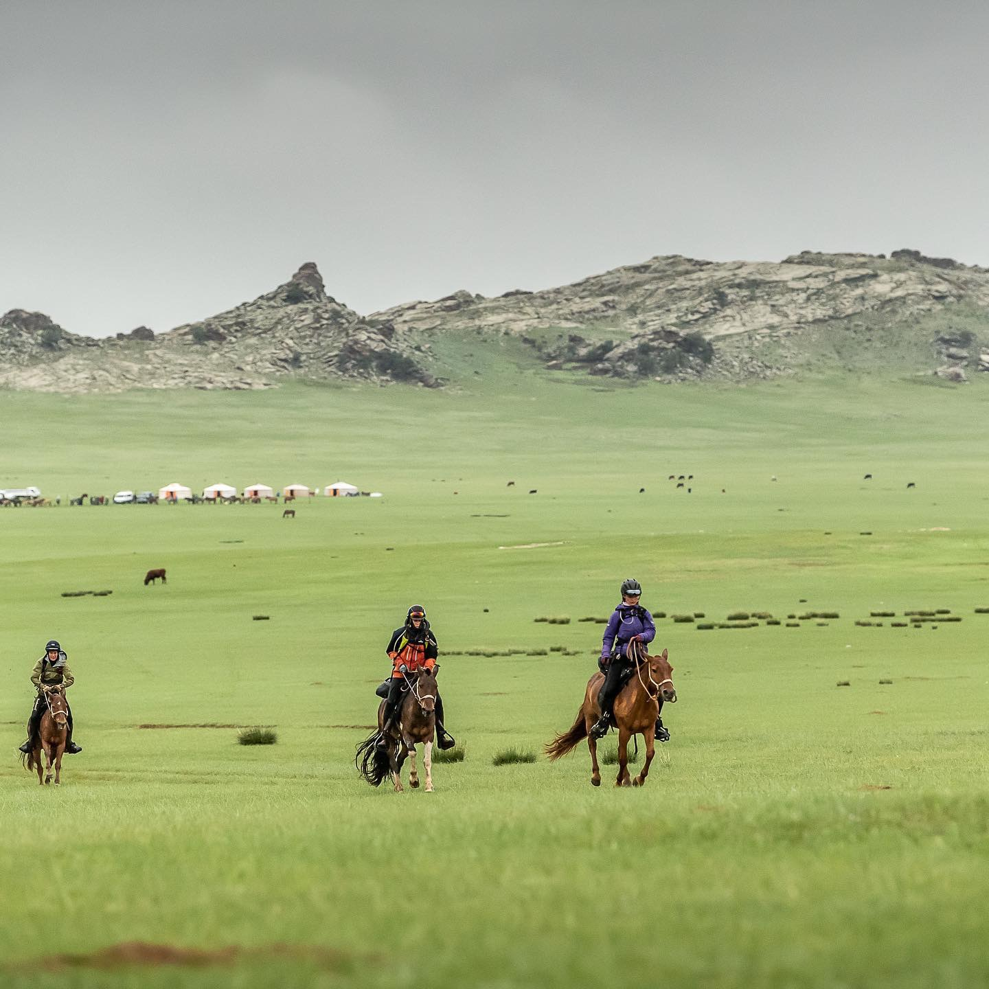 Kelsey on the 2019 Mongol Derby